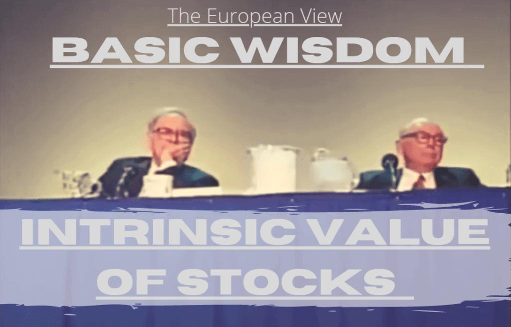 Intrinsic Value Of Stock