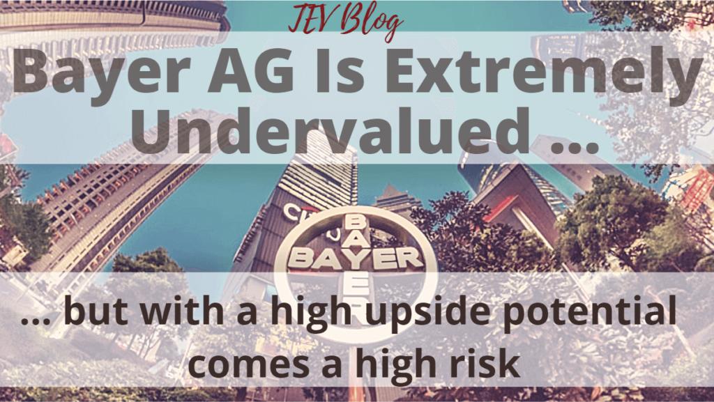 Bayer Stock Analysis TEV Blog The European View Image