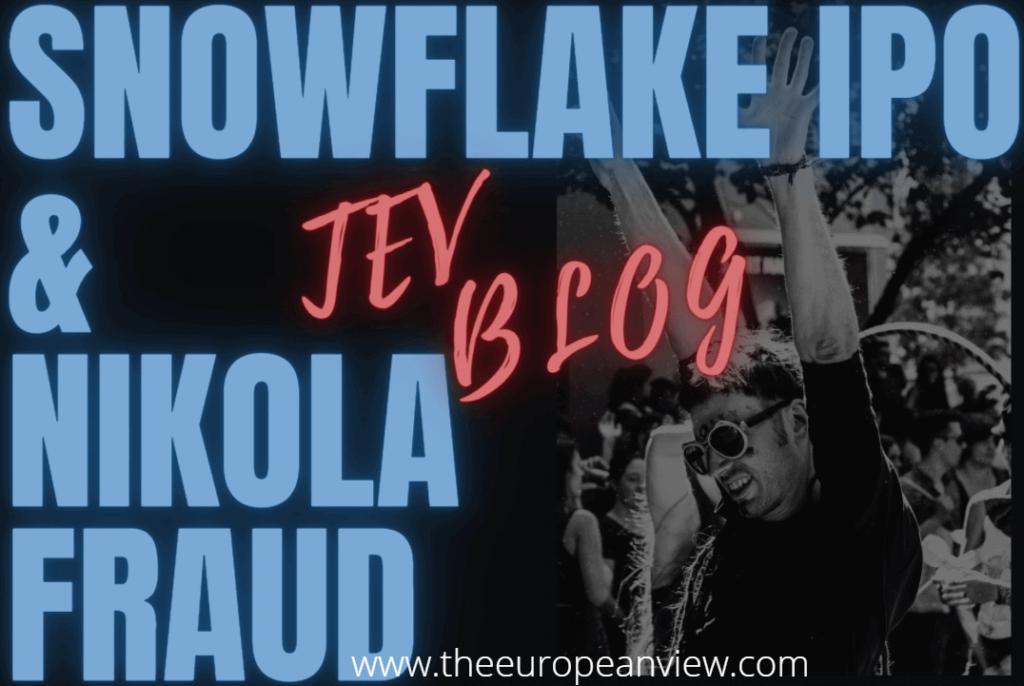 Snowflake IPO and Nikola fraud image