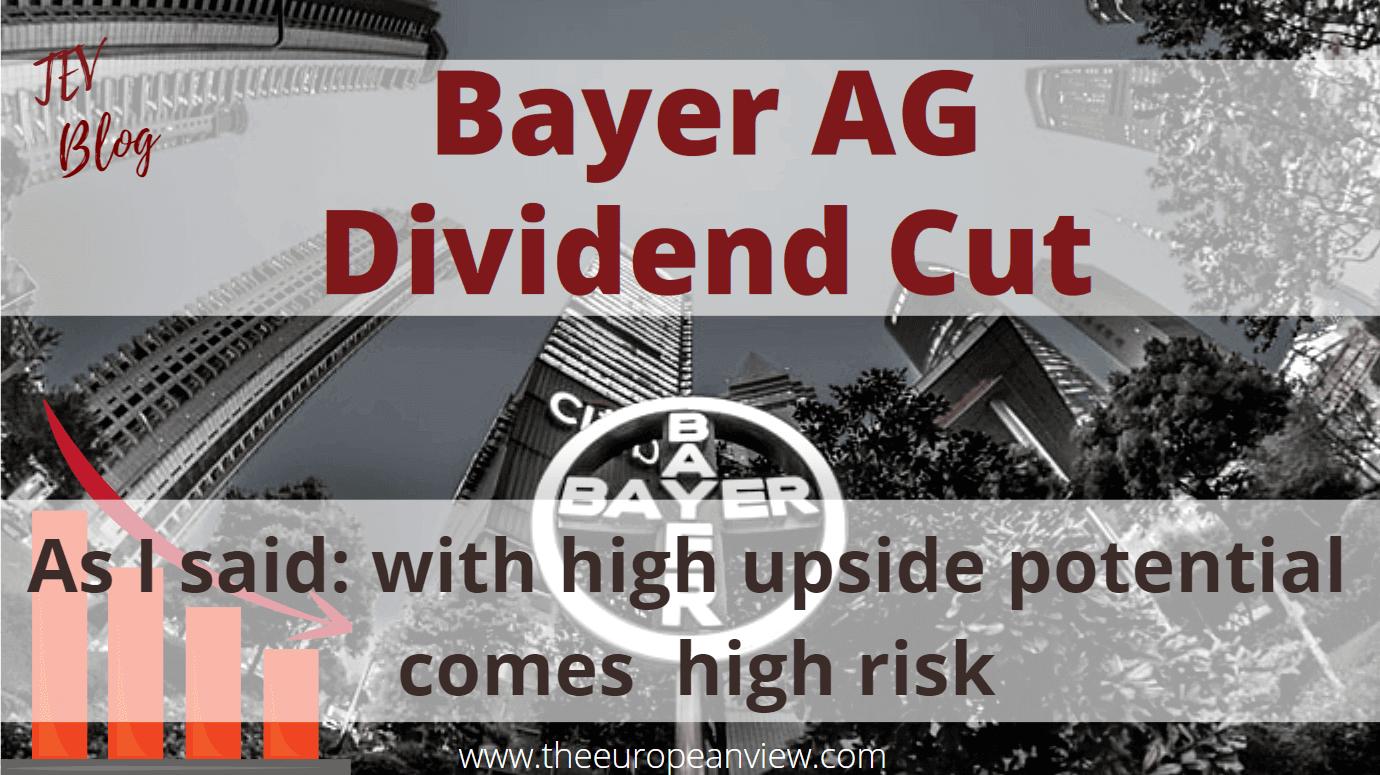 Bayer Stock AG Dividend Cut