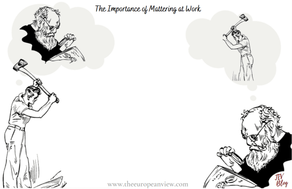 escaping the corporate world The importance of Mattering at Work TEV Blog Image